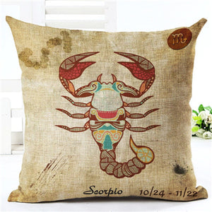 12 Constellations Zodiac Pillow Covers - 7 Chakra Store