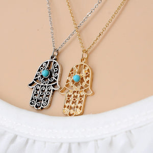 Good Luck Hamsa Hand Necklace - 7 Chakra Store