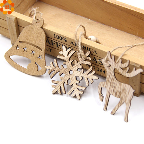 Wooden Christmas Tree Ornaments Bundle