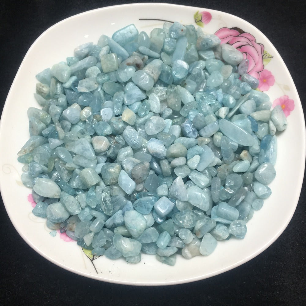 Aquamarine Quartz Natural Crystal Stones (50g bag) - 7 Chakra Store