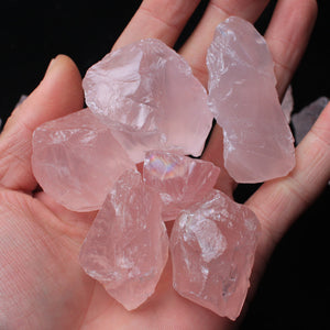 Pink Rose Quartz Crystals, Natural & Raw Stones (50g bag) - 7 Chakra Store