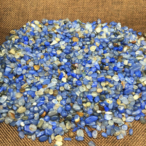Blue Lace Agate Natural Stones (50g bag) - 7 Chakra Store