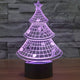 Holographic 7 Color Christmas Tree 3D LED Lamp - 7 Chakra Store