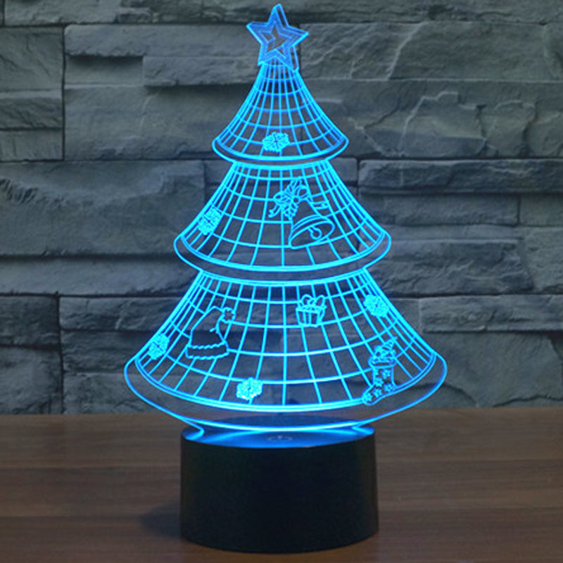 holographic 7 color christmas tree 3d led lamp 7 chakra store