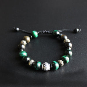 Green Cobra Eye Obsidian Bracelet