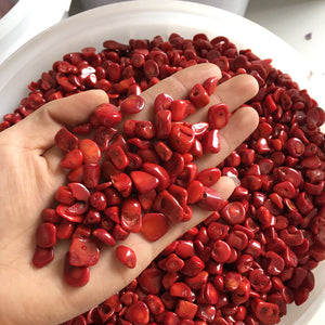 Red Coral Quartz Crystal Stones (50g bag) - 7 Chakra Store