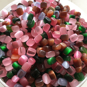 Cat's Eye Crystal Cube Stones (50g bag) - 7 Chakra Store