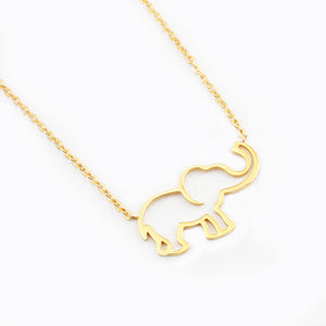 Golden & Silver Elephant Necklace - 7 Chakra Store