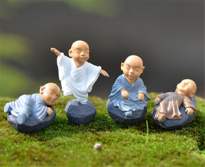 Little Buddha Baby Monks Miniature Statues - 7 Chakra Store