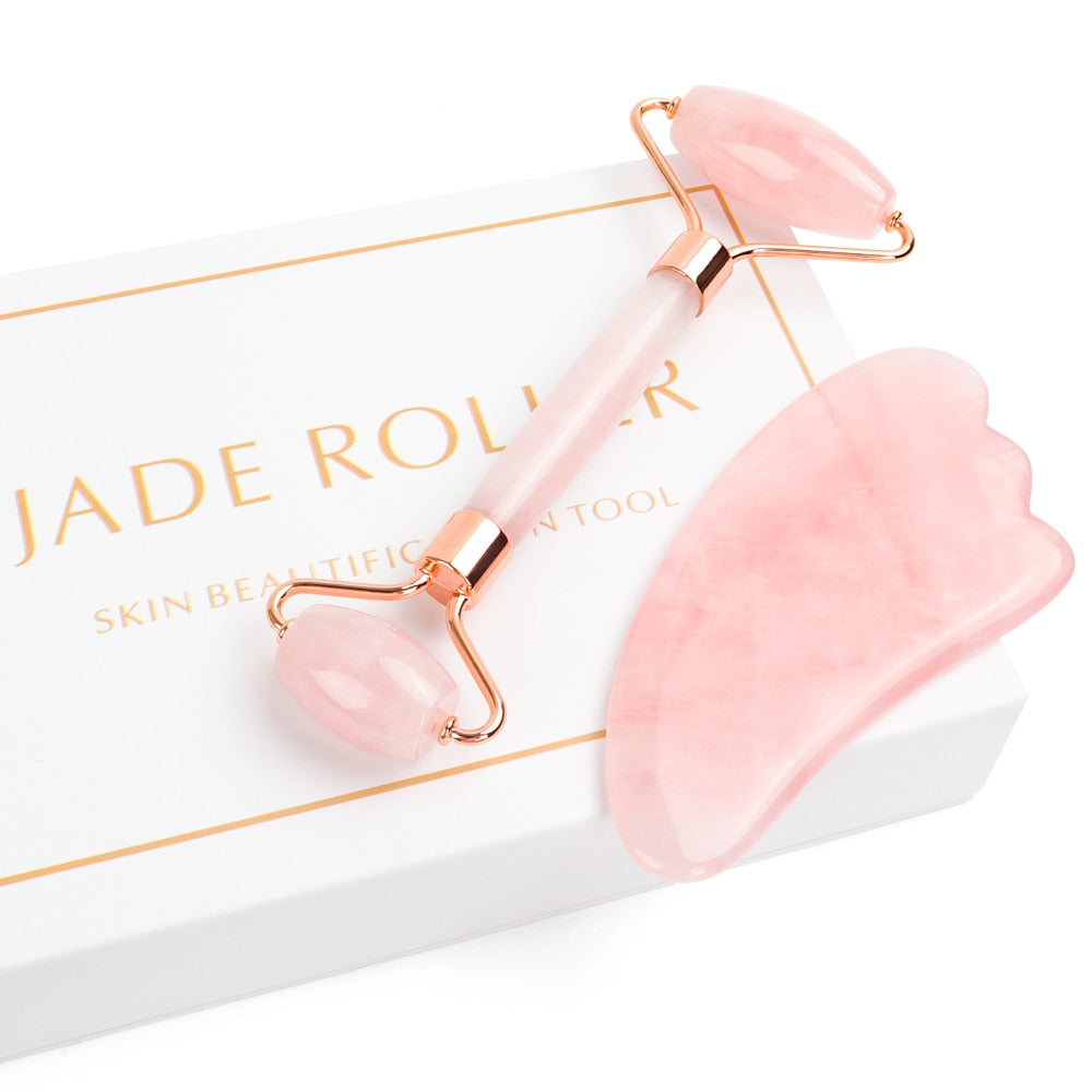 Jade & Rose Quartz Roller Beauty Box