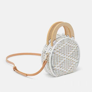 Perdana Top-Handle Crossbody Boho Straw Bag - 7 Chakra Store