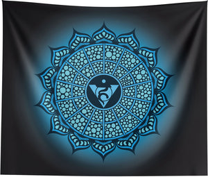 Throat Chakra Mandala Wall Tapestry