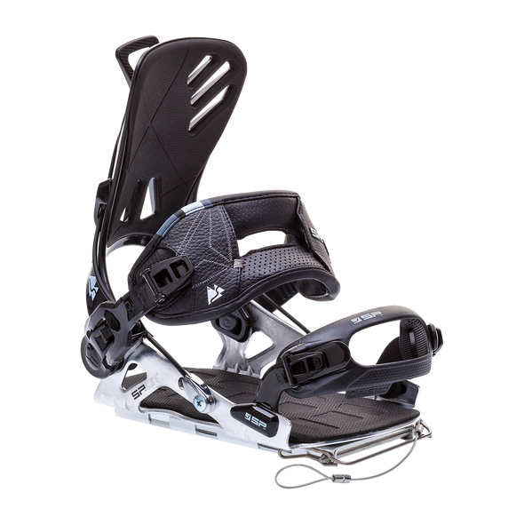SP FT Split 17/18 Snowboard Binding Shown In Black/Silver