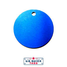"56 - Aluminum Blank Metal Tag - .032"" x 1.5"" x 1.5"" - One Hole"