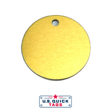 "54 - Aluminum Blank Metal Tag - .032"" x 1.5"" x 1.5"" - One Hole"