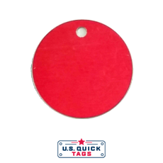 "55 - Aluminum Blank Metal Tag - .032"" x 1.5"" x 1.5"" - One Hole"