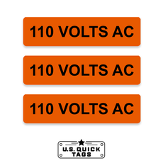 "110 Volts AC Adhesive Decal - 1"" x 4"" (100 pack)"