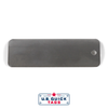 "Stainless Steel Blank Metal Tag - .016"" x 1"" x 3"" - One Hole"