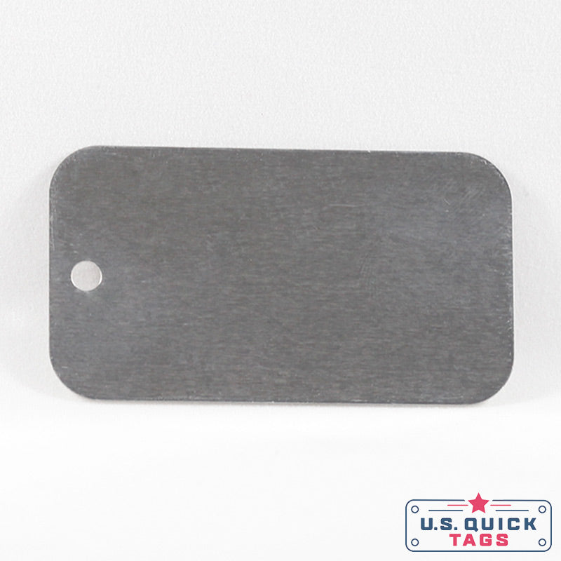 "Aluminum Blank Metal Tag - .008"" x 2.5"" x 4"" - One Hole"