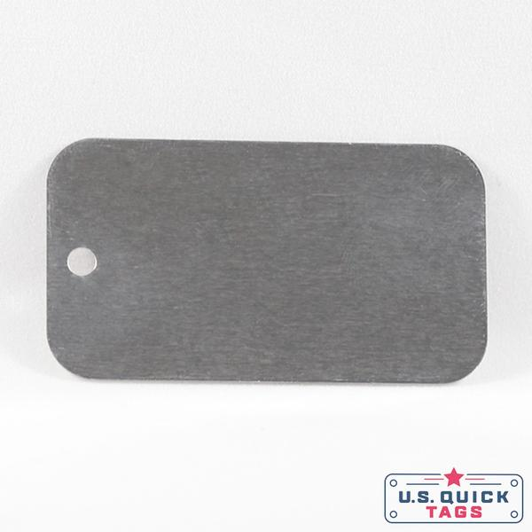 "Aluminum Blank Metal Tag - .025"" x 1.25"" x 2.25"" - One Hole"