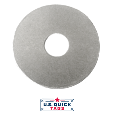 "Aluminum Blank Metal Tag - .025"" x 1"" x 1"" - One Hole"