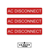"AC Disconnect Adhesive Decal - 0.75"" x 4"" (100 Pack)"
