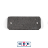 "Stainless Steel Blank Metal Tag - .032"" x 1"" x 2.5"" - Two Holes"