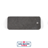 "Stainless Steel Blank Metal Tag - .032"" x 1"" x 2.5"" - One Hole"