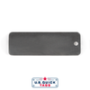 "Stainless Steel Blank Metal Tag - .032"" x 1"" x 3"" - One Hole"