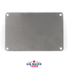 "Stainless Steel Blank Metal Tag - .016"" x 3"" x 4.5"" - Four Holes"