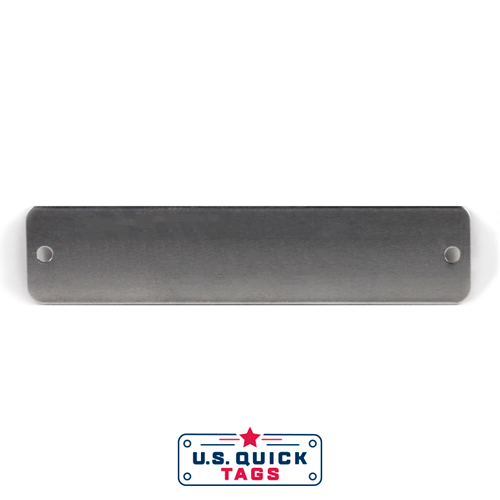 "Aluminum Blank Metal Tag - .032"" x 1"" x 4.5"" - Two Holes"