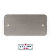 "Stainless Steel Blank Metal Tag - .016"" x 2"" x 4"" - Two Holes"