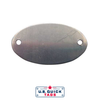 "Stainless Steel Blank Metal Tag - .032"" x 1.18"" x 2"" - Two Holes"