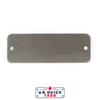 "Stainless Steel Blank Metal Tag - .016"" x 1.5"" x 4.25"" - Two Holes"