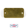 "Brass Blank Metal Tag - .016"" x 1.5"" x 3"" - Two Holes"