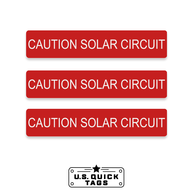 "Caution: Solar Circuit Adhesive Decal - 1.125"" x 5.75"" (100 Pack)"