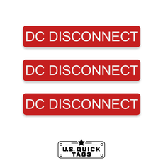 "DC Disconnect Adhesive Decal - 0.75"" x 4"" (100 Pack)"