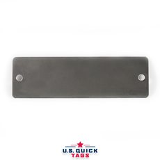 "Stainless Steel Blank Metal Tag - .016"" x 1.062"" x 3.5"" - Two Holes"