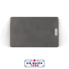 "Stainless Steel Blank Metal Tag - .016"" x 2.125"" x 3.375"" - One Slot"