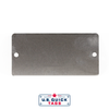 "Stainless Steel Blank Metal Tag - .016"" x 1.75"" x 3.5"" - Two Holes"