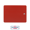 Red Painted Steel Blank Tag One Hole