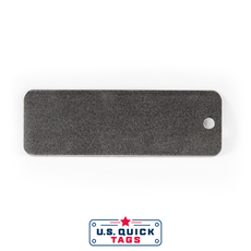 "Steel Blank Metal Tag - .025"" x 1"" x 3"" - One Hole"
