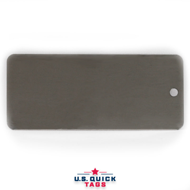 "Stainless Steel Blank Metal Tag - .016"" x 1.5"" x 3.5"" - One Hole"