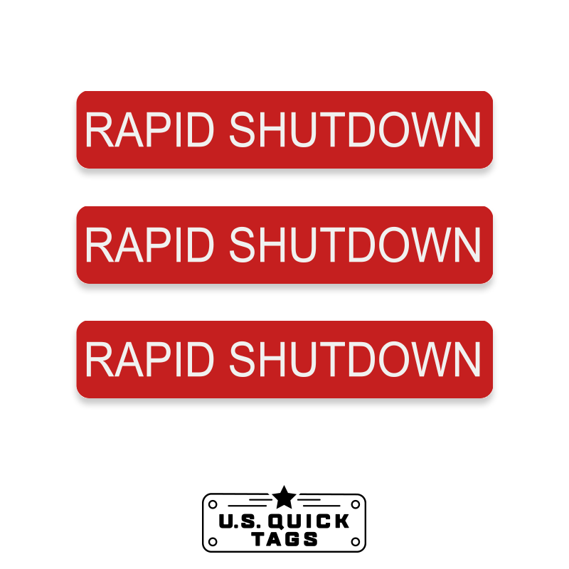 "Rapid Shutdown Adhesive Decal - 0.75"" x 4"" (100 Pack)"