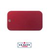 Red Medical Tag Anodized Aluminum One Hole