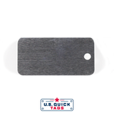 "Aluminum Blank Metal Tag - .032"" x 1"" x 2"" - One Hole"