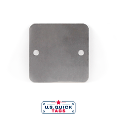 "Stainless Steel Blank Metal Tag - .016"" x 1.5"" x 1.5"" - Two Holes"