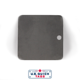 "Stainless Steel Blank Metal Tag - .016"" x 2"" x 2"" - One Hole"