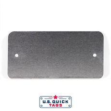 "Aluminum Blank Metal Tag - .032"" x 2"" x 4"" - Two Holes"