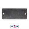 "Stainless Steel Blank Metal Tag - .016"" x 1.75"" x 4"" - Two Holes"